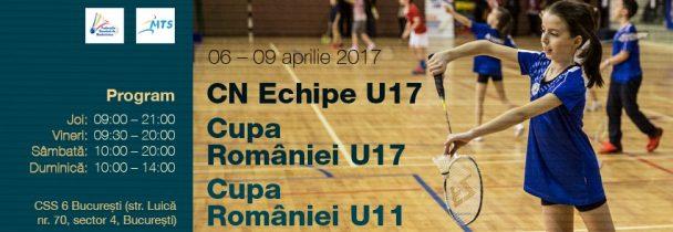 Campionatul National pe Echipe U17, Cupa Romaniei U17 si Cupa Romaniei U11