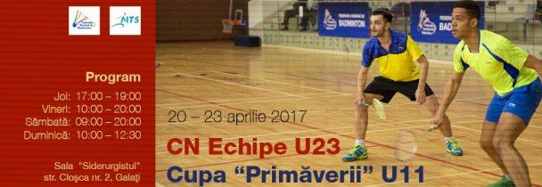 Campionatul National pe Echipe U23, Cupa Romaniei U23 si Cupa Primaverii U11