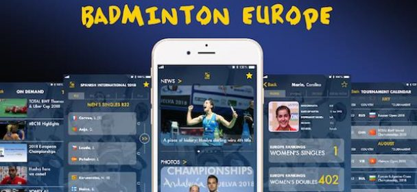 Noua aplicatie Badminton Europe!